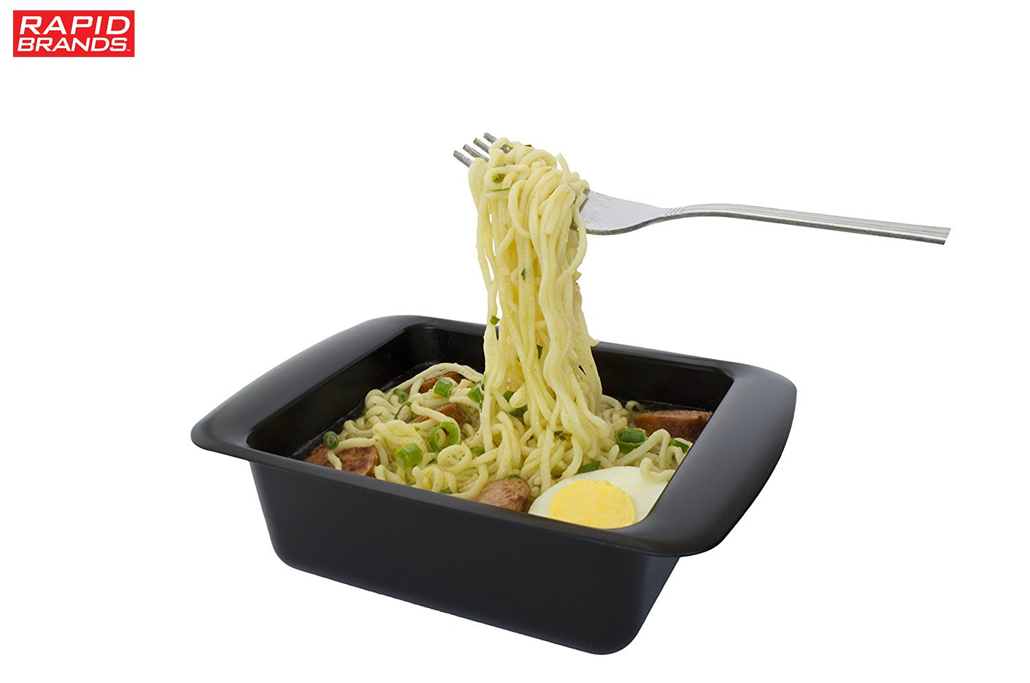 Rapid Ramen Cooker - Microwave Ramen in 3 Minutes - BPA Free and Dishwasher Safe (Four Black) by Rapid Brands (Image #3)