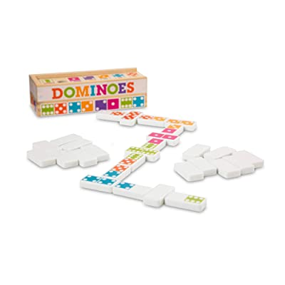 Melissa & Doug Dominoes Tabletop Game (28 Tiles in Wooden Storage Box, Great Gift for Girls and Boys - Best for 4, 5, 6 Year Olds and Up): Toys & Games
