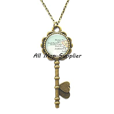Amazon.com: Charming Key Necklace, Montego Bay Key Pendant, Negril on absolute location of jamaica, climate of jamaica, continents of jamaica, mountain of jamaica, culture of jamaica, human features of jamaica, geography of jamaica, latitude of jamaica, physical map of jamaica, elevation map of jamaica, rivers of jamaica, capital of jamaica, region of jamaica, symbols of jamaica, political map of jamaica, government of jamaica, natural resources of jamaica, island of jamaica, relative location of jamaica,
