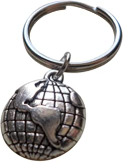 Amazon metal mini map world globe keyrings key ring chain my world globe keychain you mean the world to me couples keychain gumiabroncs Image collections