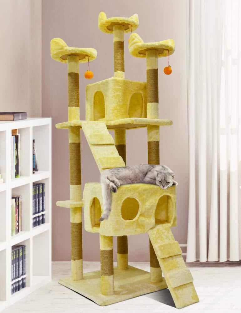 Weiwei Cat Climbing Frame cat Tree cat Grab Column for Game Sleeping 170cm 50cm  50cm