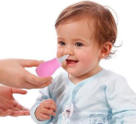 1 unids aspirador nasal moco lechón removedor de moco nasal aspirador de bebé limpiador de nariz cuidado del bebé nuevo (rosa): Amazon.es: Bebé