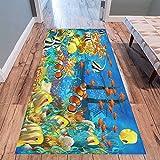 "Cheap InterestPrint Fish Underwater Area Rug Floor Mat 10'x 3'3"", Coral Reef Sea Ocean Animal Throw Indoor Carpet Rugs Collection for Living Room Bedroom Home Decor"