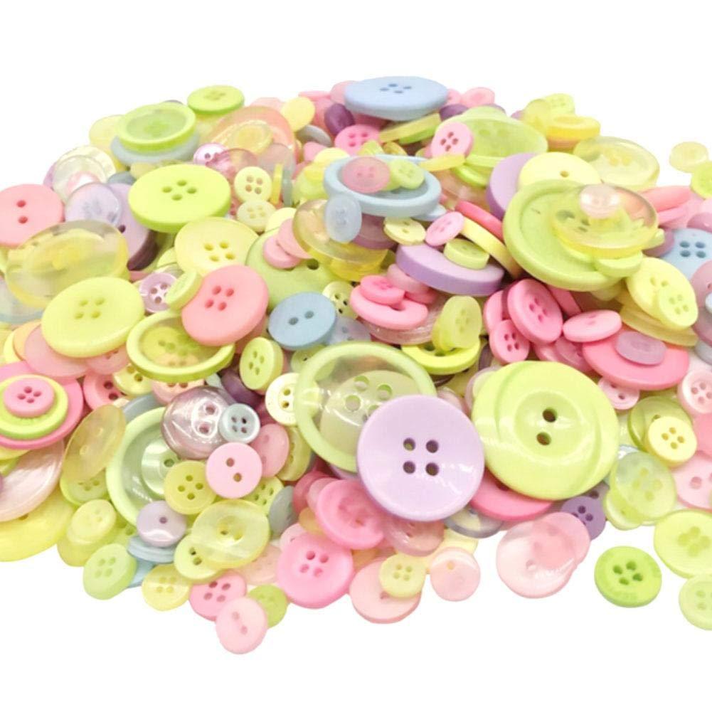 Bottoni Colori Assortiti e Forme Bottoni Artigianali Fatti a Mano Luckybaby Bottoni Colorati Bottoni Artigianali Bottoni in Resina per Decorazioni Artigianali per Cucire