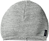 Armani Jeans Men's Wool Blend Knit Beanie Chunky, Light Grey, ONE SIZE