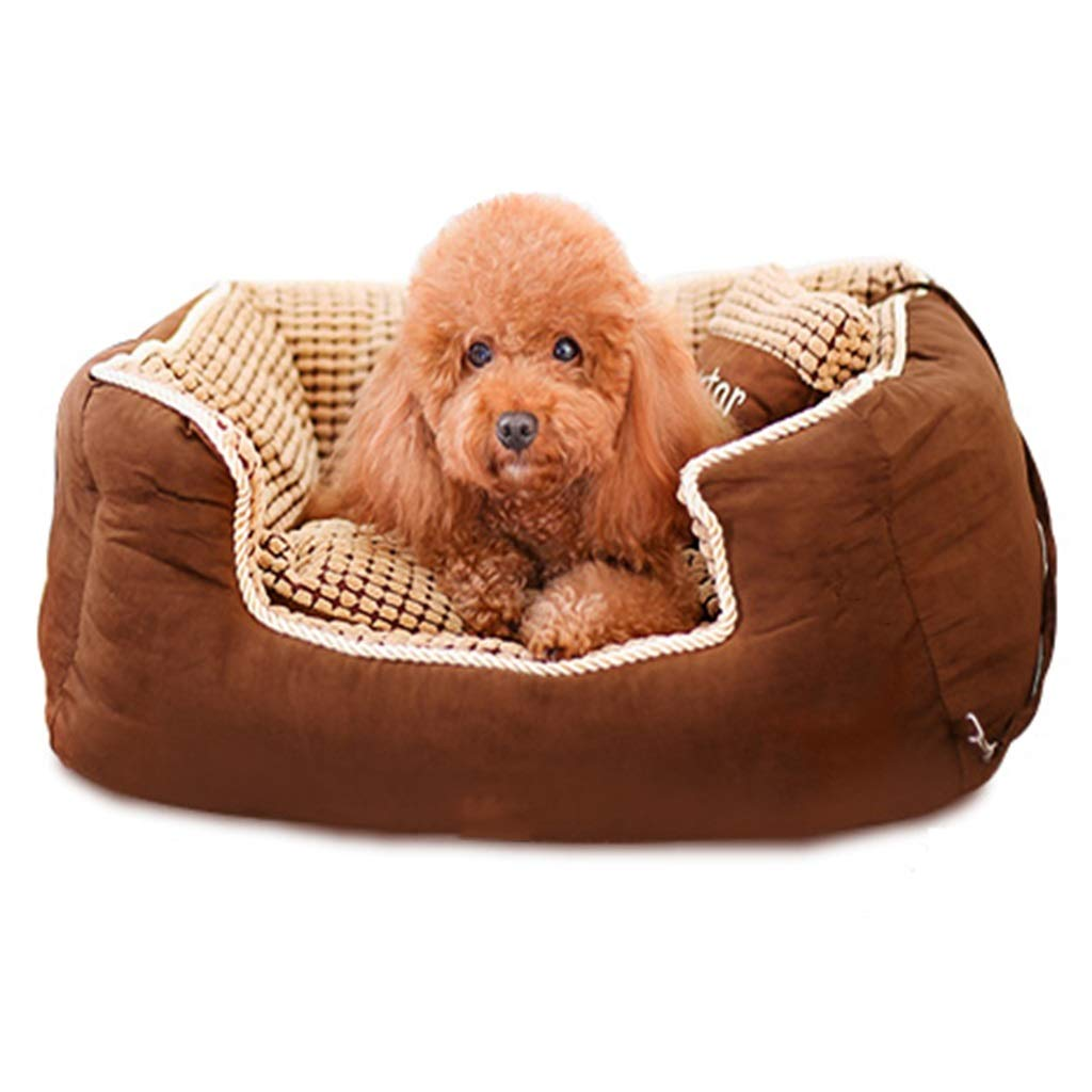M Pet Bed Teddy Dog Pad Large Small Pet Mat Four Seasons Universal Washable Brown Multi-size (Size   M)