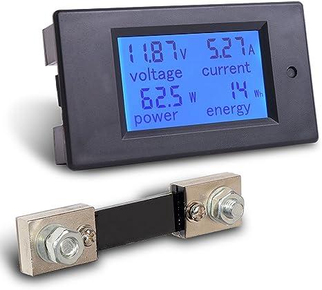 Amazon.com: MICTUNING DC 6.5-100V 0-100A amperímetro ...