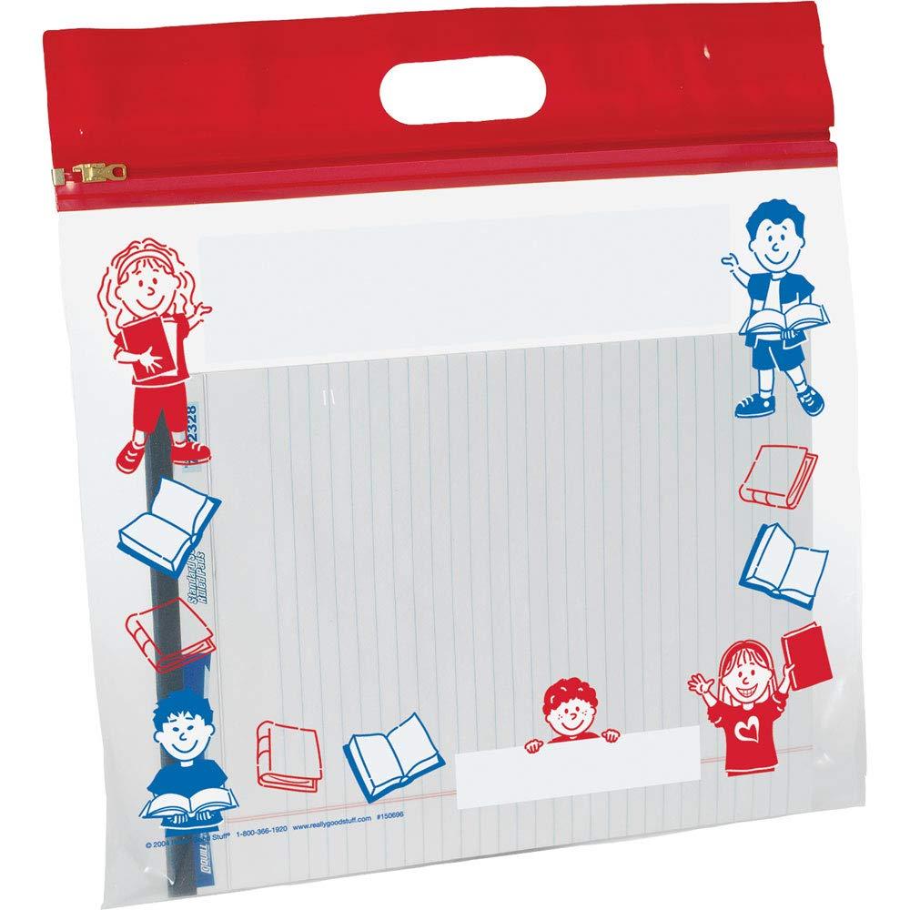 Really Good Stuff 150696 Zipper-Shut Classroom Storage Bags
