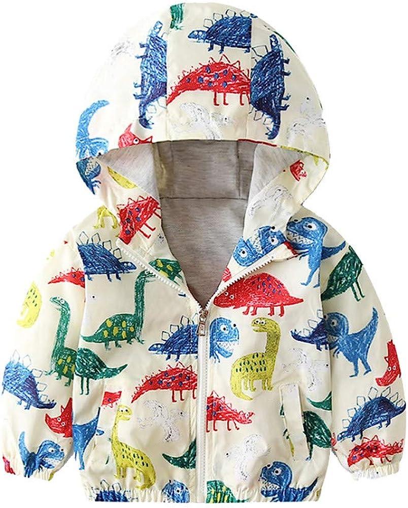 VEKDONE Coat Toddler Jacket Outwear Baby Girl Dinosaur Pattern Winter Clothes
