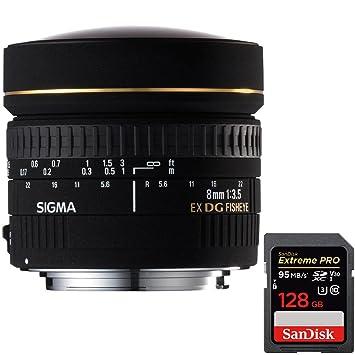 Sigma 8 mm f/3,5 EX DG Circular lente de ojo de pez para Canon EOS ...