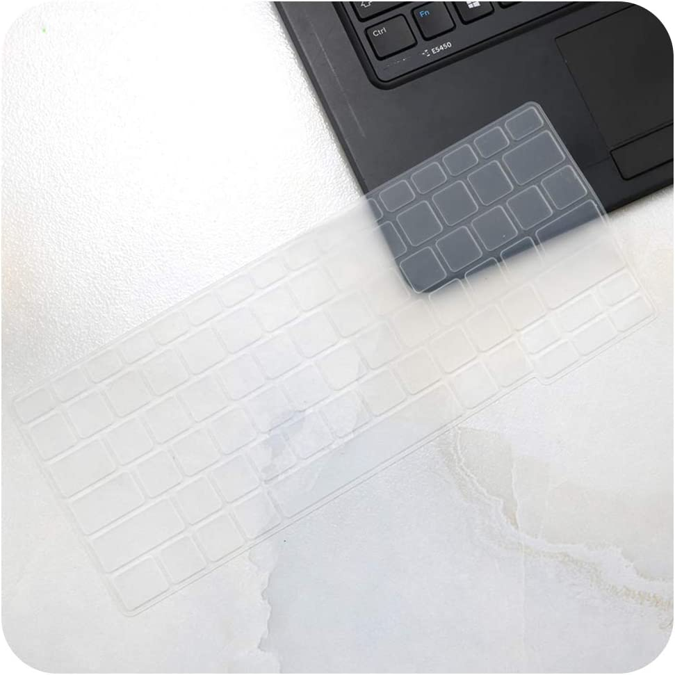 Keyboard Cover Skin Compatible for dell Latitude E7250 E5250 E7270 E5270 E7389 E5270 12.5 Latitude 7290 7280 E7370 13.3 Laptop,Clear