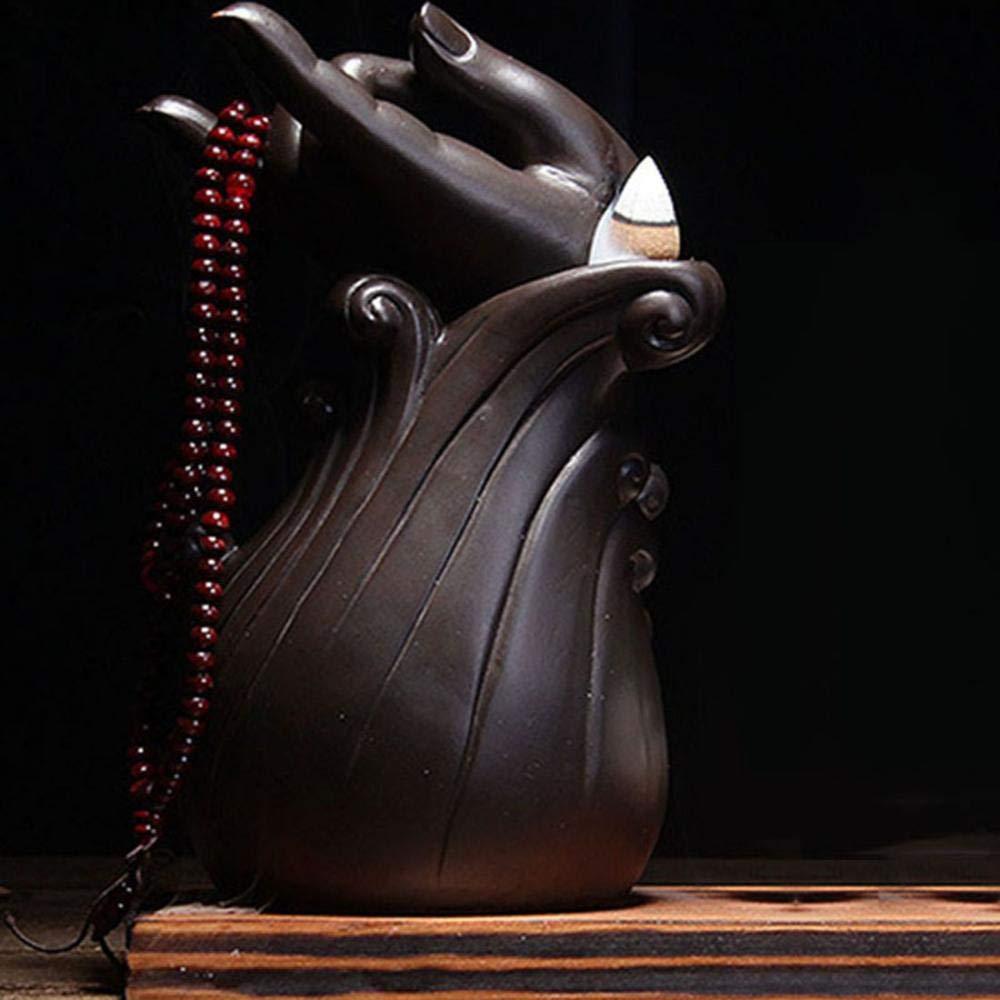 Backflow Incense Holder, Handmade Home Incense Burner With 10PCs Backflow Incense and Gift Box, Ceramic Incense Holder Incense Burner Big (Style A) by AlenX (Image #5)