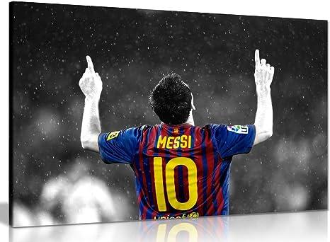 FOOTBALL LEGEND LIONEL MESSI   PHOTO PRINT ON FRAMED CANVAS WALL ART DECOR