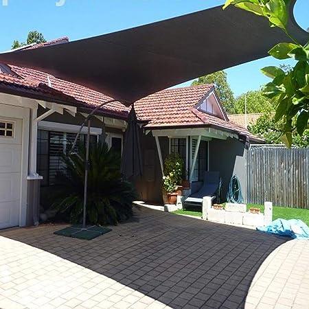GUOOK Malla de Malla para Parasol de Patio, toldo y Ventana, Color Negro, HDPE, 85% de protección Solar, con Ojales para pérgola de jardín (tamaño: 4 m x 8 m), 2Mx8M: Amazon.es: Hogar
