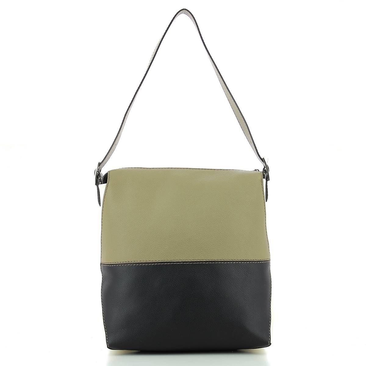 Furla Womens Dori Small Hobo Kaki Onyx Petalo Handbag Dome Authentic Shoes