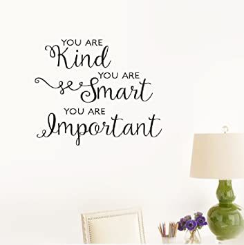 Amazoncom Etheb Wall Sticker Quote You Are Kindyou Are Smartyou