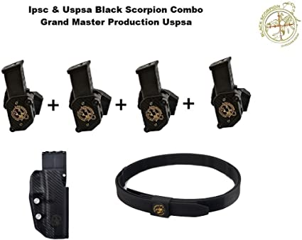 Black Scorpion IPSC /& USPSA Storm I Competition 3 Pouches Combo Race Purchase