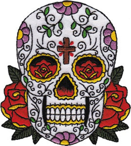 Application Candy Skull with Cross Patch