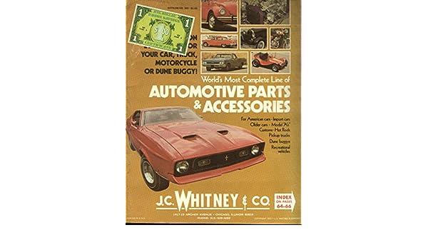 J C Whitney Automotive Parts & Accessories Catalog #305 1972