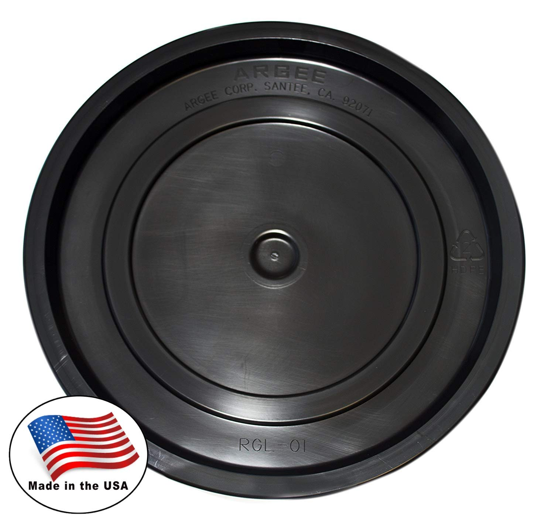 Argee RG5502BLK/10 Bucket, 3.5 gallon/5 gallon, Black, 10 Pack