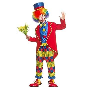 Costume de déguisement drôle de clown de cirque de garçons (Taille Moyen 5-7 796c5bbff2e