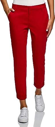 oodji Ultra Mujer Pantalones Básicos de Algodón: Amazon.es: Ropa y accesorios
