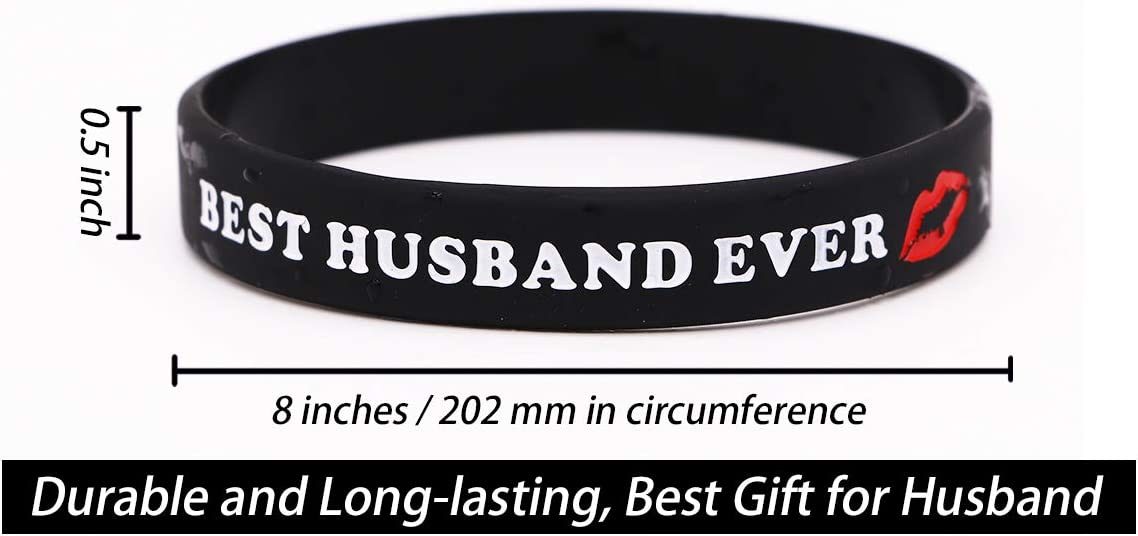 Wedding for Bride and Bridegroom Best Husband//Wife Ever Rubber Bracelets Silicone Wristbands for Men and Women Birthday Valentines Present