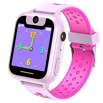 Jsbaby Kids Game Smart Watch 1.44 inch Touch Smartwatch Kid for Children Girls Boys Birthday Gift 3-12 with Camera Flashlight