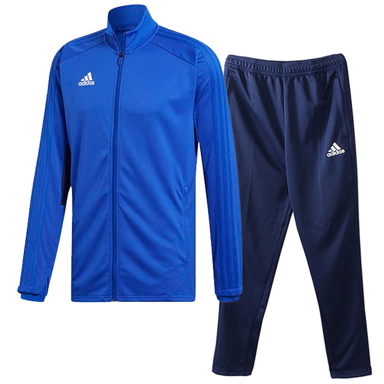 アディダス(adidas) CONDIVO18 トレーニングウエア 上下セット(ボールドブルー/ダークブルー) DJV56-CG0405-DJU99-CV8243 B0798GQZ9Wボールドブルー×ダークブルー 日本 J/O-(日本サイズXL相当)