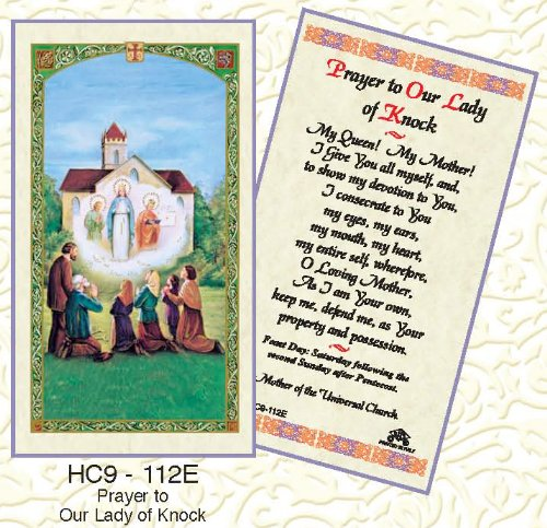 Our Lady of Knock Prayer Laminated 2-Sided Holy Card (3 Cards per Order) (Knock Prayer Card)
