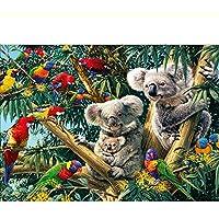 GLLCYL Kit di Pittura a Olio 3D Fai da Te Carino Immagine di Koala Bear Paint By Numbers Pattern Resina Drill Gift 40x50cm