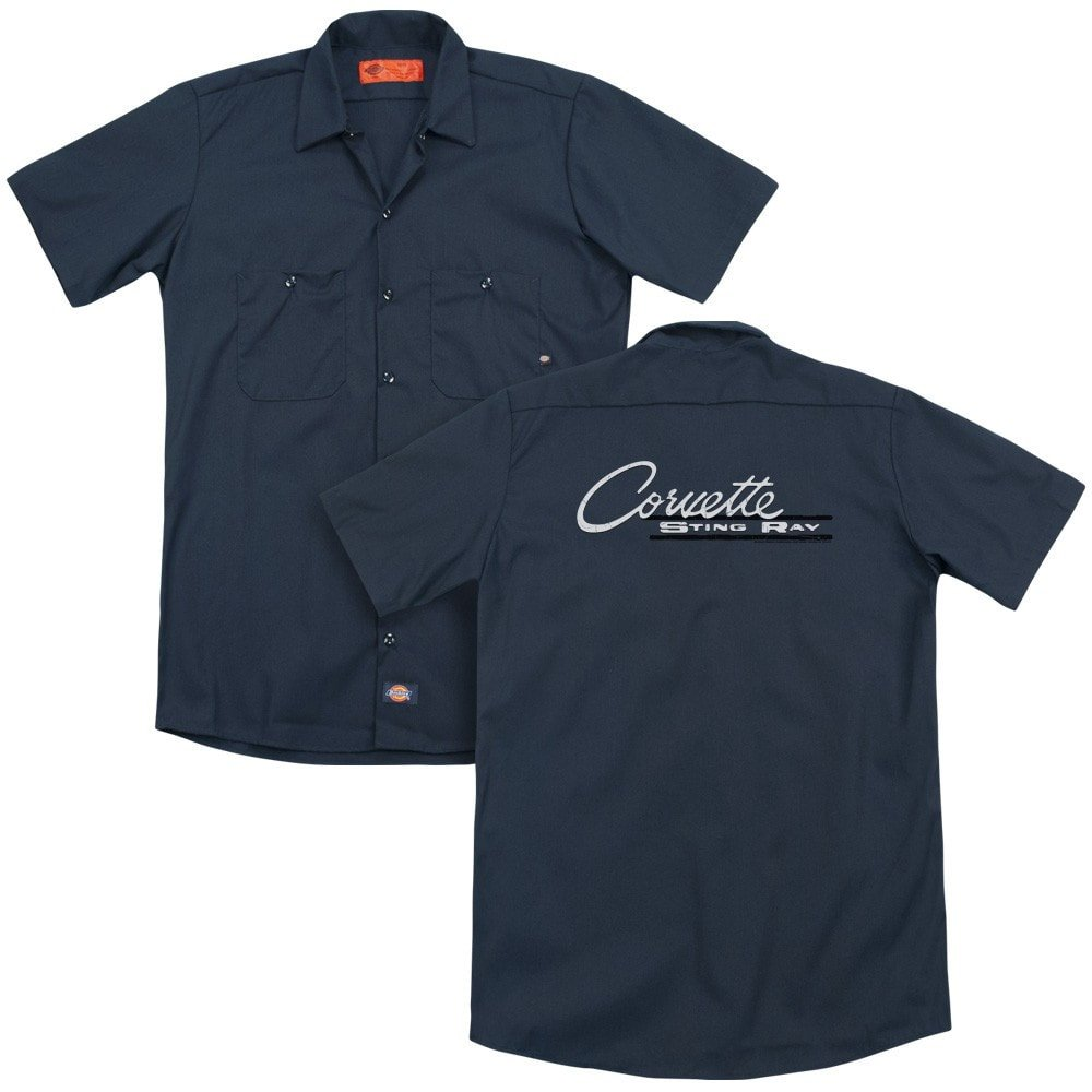 Chevy Retro Stingray Adult Work Shirt