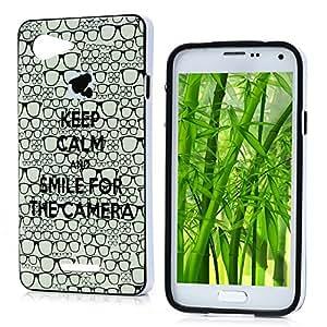 VCOER Samsung Galaxy E3 Funda Cáscara de Teléfono TPU Gel Silicona case y PC marco Patrón de la gafas para Protectora al Móvil