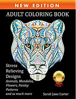 Amazon Adult Coloring Book Stress Relieving Animal Designs