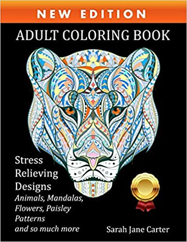 Amazon.com: Adult Coloring Book: Stress Relieving Designs Animals ...