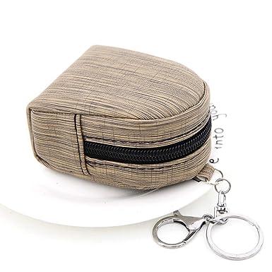 Frauen kleine Münze Karte Schlüsselanhänger Brieftasche Mini Geldbörse Zip Nett