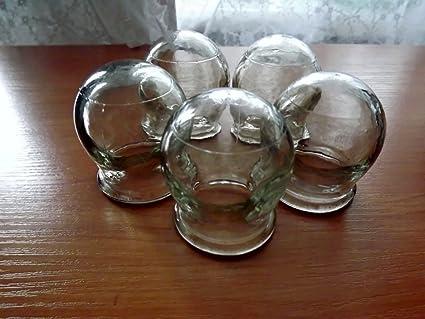 Chino Terapia de masaje. Juego de 5 frascos de vidrio vasos ...