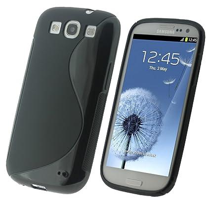 igadgitz Dual Tone Crystal Gel Funda Negro - Fundas para teléfonos móviles (Funda, Samsung, Galaxy S3 III i9300, Negro)