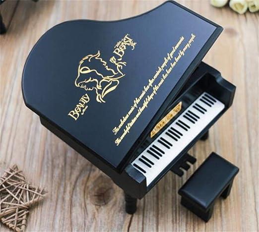 WooMax Caja de música diseño de la Bella y la Bestia, Color Negro ...