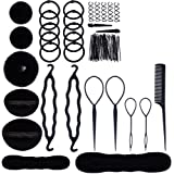 Haobase Hairdressing Accessories, Hairdressing Tools Set Hairstyle Stylized Accessory Hair Girls Sponge Foam Hairclip…