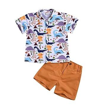 2PCS Infant Baby Boys Top T-Shirt Moustache Gentlemen Short Pants Shorts Outfit