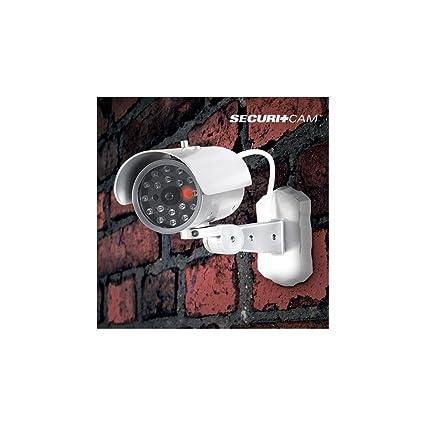 Bitblin IG108474 Cámara de vigilancia con Sensor de Movimiento diurno, Blanco y Gris