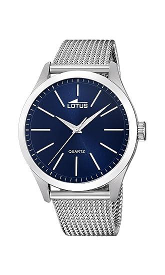 Lotus Watches Reloj Análogo clásico para Hombre de Cuarzo con Correa en Acero Inoxidable 18570/2: Amazon.es: Relojes
