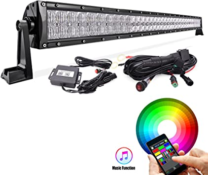 14inch 4D LED Work Light Bar Spot Flood For Jeep ATV 4X4 Driving Offroad+Wiring