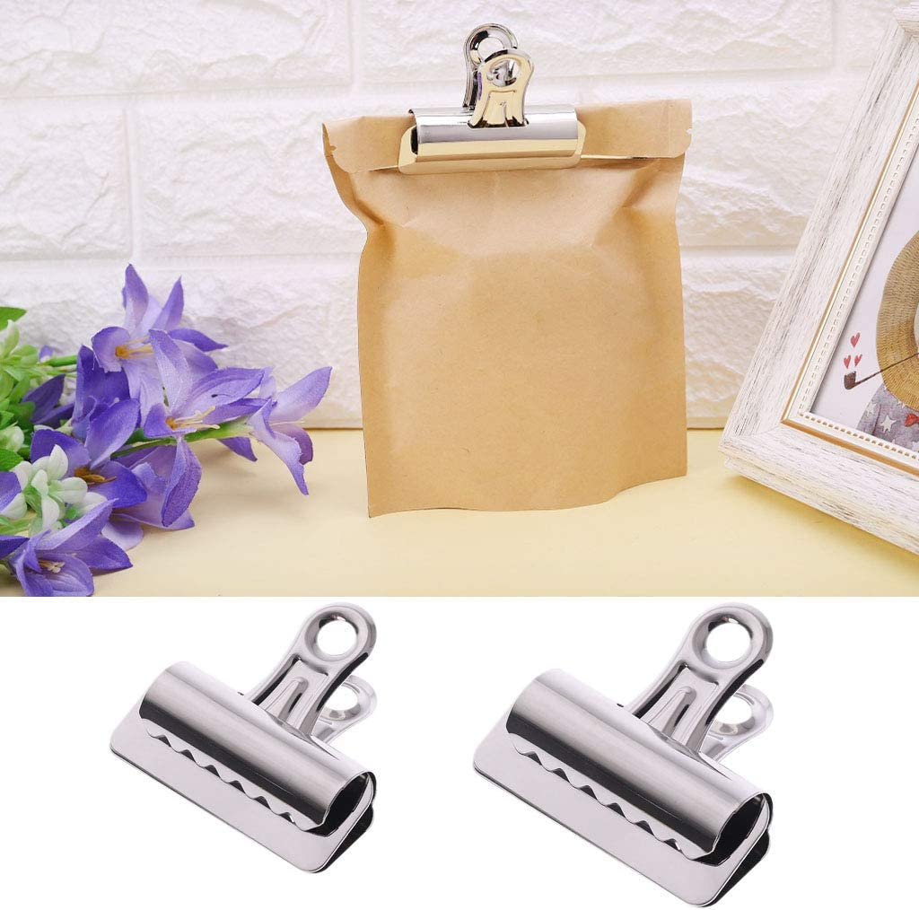 Metal Bulldog Clips Paper Letter Document Ticket File Binder Grip Clip Clamp 65mm 75mm Optional by Logres