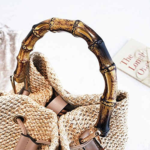 Forma sesgar Bolsa Bolsas Un Paja Sola Moda Tejido en Mujer Cubo de de en Bolsas A de de Tejidas Mano de Hombro WFYJY de wH6q1f