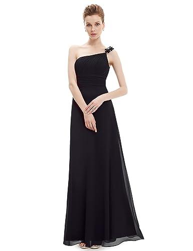 Ever Pretty Flower Ruffles One Shoulder Empire Line Formal Dress 09596