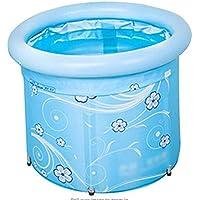 Inflatable Bathtub Foldable Kids Fishing Pool Beach Pool Portable Adult Children Adjustable Bathtub Bath Barrel Household Items Storage Bucket Save Space Insulation (50cm)