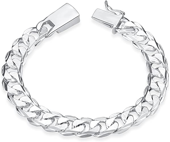 """10mm High Polished Stainless Steel Jewelry Mens Curb Link Chain Bracelet 8.66/"""""""