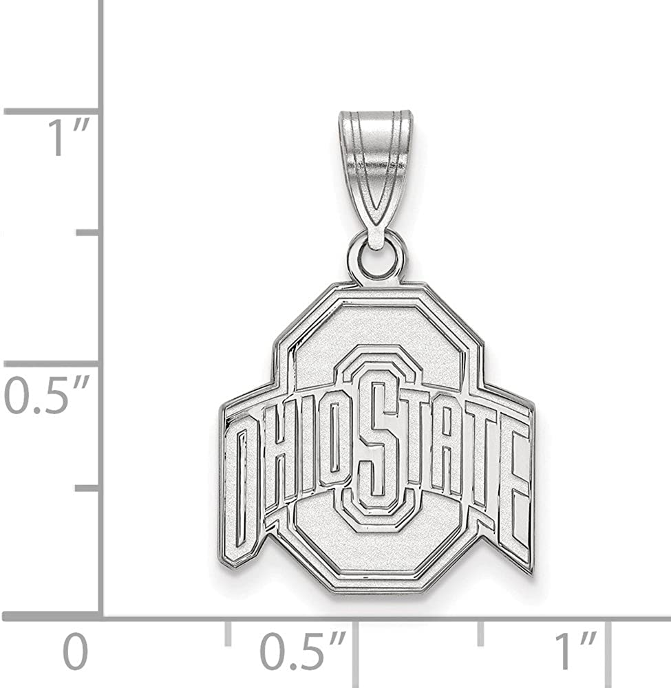 22mm x 15mm Solid 925 Sterling Silver Official Ohio State University Medium Pendant Charm